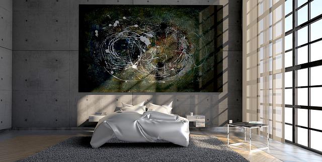 dekoracja ściany w sypialni